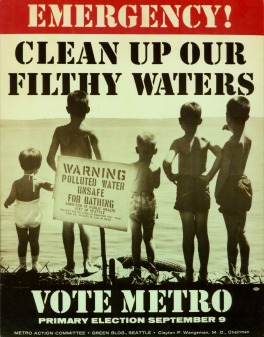 Poster for the Metro campaign, 1958.