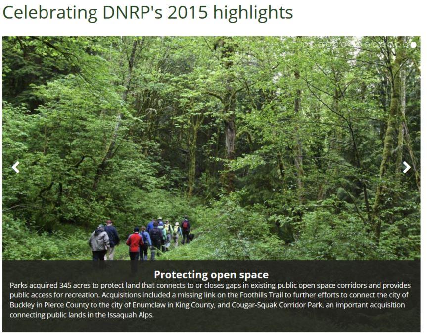 Celebrating DNRP's highlights