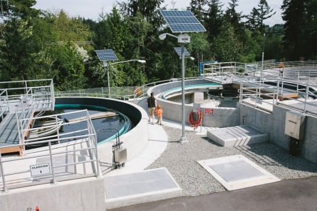 The secondary clarifiers at Vashon