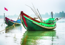 Beauty around the world: Dave Jurgens, an avid travel photographer, captured scenes like these fishing boats in Dong Hoi.
