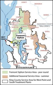 Fremont Siphon service area map