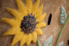 Plaster Sunflowers