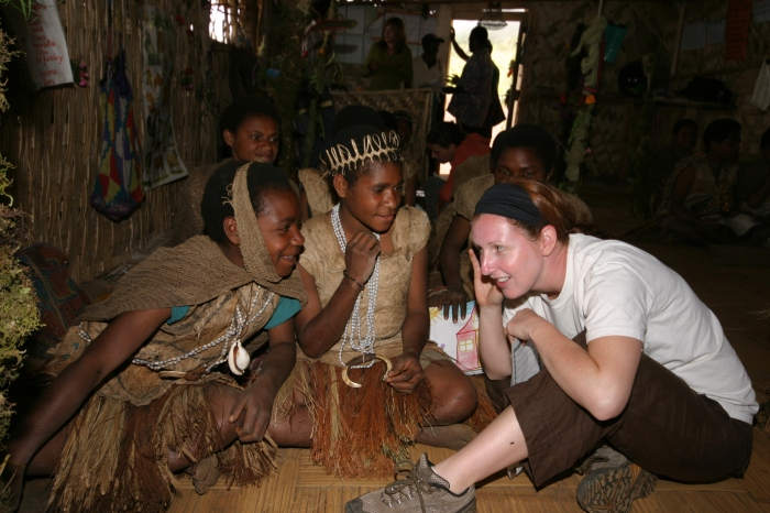 Working with Students in Papua New Guinea