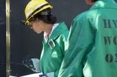Engineers inspect equipment
