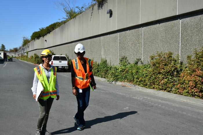wastewater engineers walk through the West Point Treatment Plant