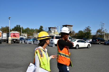 Engineers walking through West Point treatment plant