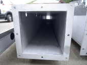 New, stainless steel duct.
