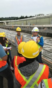 In normal times, our high school interns take detailed treatment plant tours