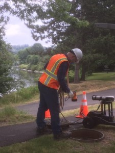 Wastewater workers prepare for rainy weather