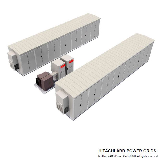 A battery system drawing by Hitachi