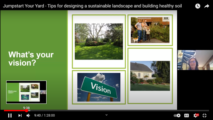 Screenshot from our virtual, sustainable yard care classes