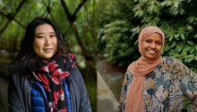 Project managers Elizabeth Shi and Amina Kedir