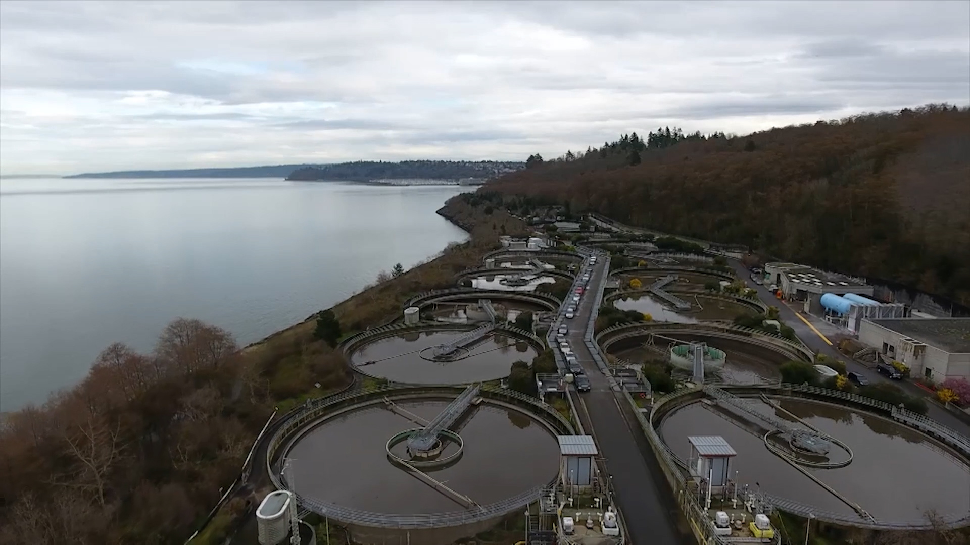 Aerial view of the West Point Treatment Plant
